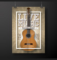 Live music flyer design with acoustic guitar on