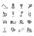 Metal-working Icon Set vector image vector image