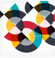 minimal circle abstract background design vector image vector image