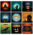 Multiple Halloween background poster ad collection vector image vector image