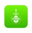music store icon green vector image