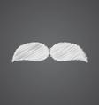 mustache sketch logo doodle icon vector image