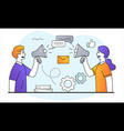 online messaging concept vector image vector image