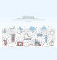 outdoor winter activities advertising flat vector image