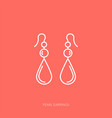 outline icon woman accessories - pearl vector image vector image
