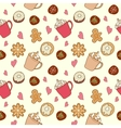 Pattern of coffee and sweets vector image vector image
