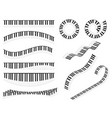 piano keyboards line different types shape set vector image