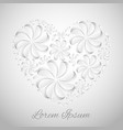 postcard with a heart of paper flowers for your vector image