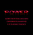 power style font vector image vector image