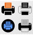 printer eps icon with contour version vector image