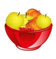 Red apple chalice vector image vector image