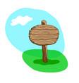 round blank cartoon wooden signpost vector image vector image
