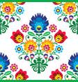 seamless folk art pattern - polish traditio vector image vector image