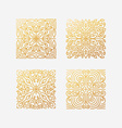 set abstract square emblems vector image
