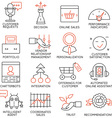 Set of icons related to business management - 15 vector image vector image