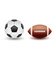 set of sports balls balls for soccer and vector image vector image