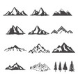 Set of the mountains isolated on white background vector