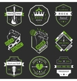 Set of vintage logos of rock music and rock and vector image vector image