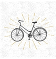 Sign of bicycle vector image vector image
