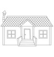 simple modern house outline vector image vector image