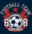 soccer football sports league team with unicorns vector image vector image