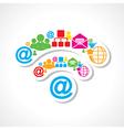 Social media icons make wifi sign stock vector image vector image