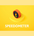 speedometer isometric icon isolated on color vector image vector image