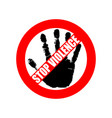 stop violence 3 vector image