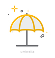 Thin line icons Umbrella vector image vector image