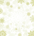 winter background with snowflakes snow vector image vector image