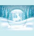 winter scene vector image vector image