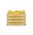 wooden box with bananas vector image vector image