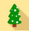 xmas fir tree icon flat style vector image