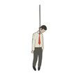 hanged businessman vector image