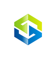 S letter technology logo vector image