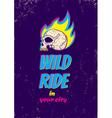 Wild ride CMYK vector image