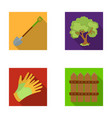 a shovel with a handle a tree in the garden vector image