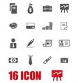 black grey icon set vector image vector image
