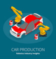 car manufacturer or car production concept vector image vector image