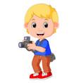 cartoon character photographer vector image vector image