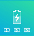charging battery recharging icons vector image