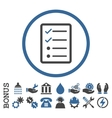 Checklist Page Flat Rounded Icon With Bonus vector image