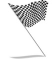 chequered flag flying vector image