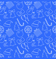christmas blue background hand drawn white vector image vector image