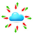 cloud with arrows on white background vector image