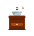 coffee mill icon flat style vector image vector image