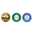 covid19-19 protocol safety check emblem seal vector image vector image