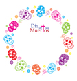 Day of the Dead Skulls Frame vector image vector image
