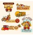 Delivery Emblems Set vector image vector image