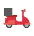 delivery motorcycle restaurant food online vector image vector image